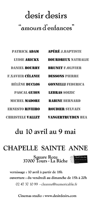 invitation Chapelle Saint Anne 2010